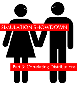 Excel Simulation Show-Down Part 3: Correlating Distributions
